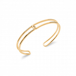 BANGLE 18 KT GOLD PLATED CZ