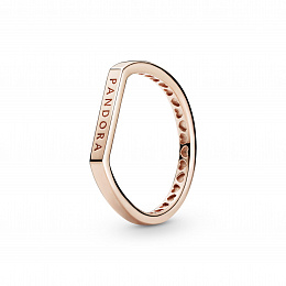 Pandora logo thin bar Pandora Rose ring /189048C00-54