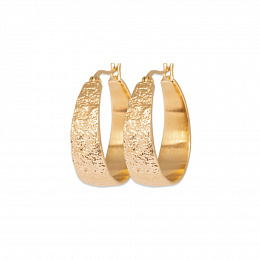 LOOPPLATEDEARRINGS 18 KT GOLD