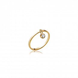 RING 18 KT GOLD PLATED CZ