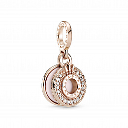Crown O Pandora Rose dangle with clear cubiczirconia and pinkenamel /789055C01