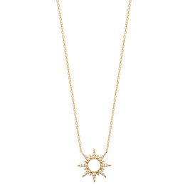 NECKLACE 18 KT GOLD PLATED CZ /97327145