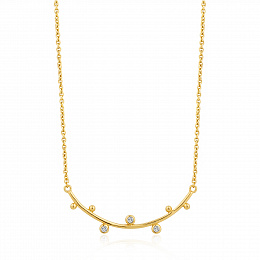 SHIMMER SOLID BAR STUD NECKLACE